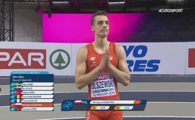 Olszewski przeszedł przez eliminacje na 60 m