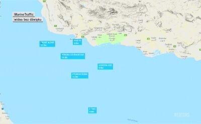 Przebieg wydarzeń po ataku na tankowce w Zatoce Omańskiej. Na wideo widoczne również statki ratunkowe