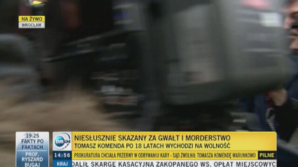 Tomasz Komenda po 18 latach wyszedł na wolność. Prokuratura: nie popełnił zbrodni, za którą był skazany
