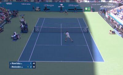 Skrót meczu półfinałowego US Open Miedwiediew - Wawrinka