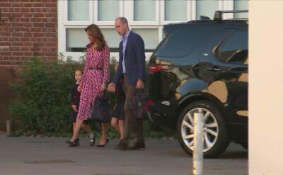Księżniczka Charlotte przyszła do szkoły w towarzystwie rodziców i starszego brata