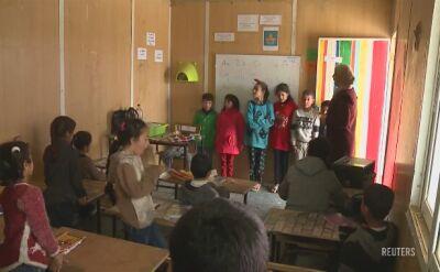 Jordania. Syryjskie dzieci w obozie dla uchodźców
