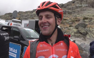 Szymon Sajnok po 20. etapie Vuelty