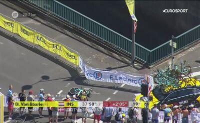 Kraksa Wouta Van Aerta na 13. etapie Tour de France