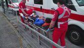 Joe Dombrowski zwieziony do ambulansu po 5. etapie Giro