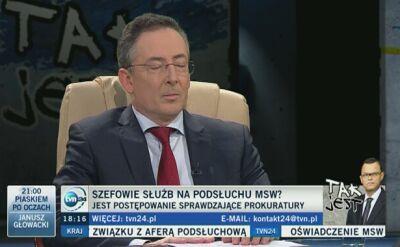 """Sienkiewicz: w MSW nie działa tajna grupa. """"Niech prokuratura to wyjaśni do dna"""""""
