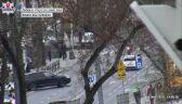 Motocyklista ratował się przed czołowym zdrzeniem z audi