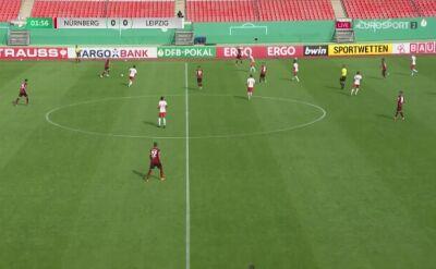 Puchar Niemiec. Norymberga - Lipsk. Gol Amadou Haidara (0:1)