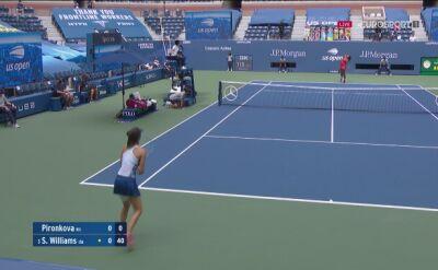 Cwetana Pironkowa stawia opór Serenie Williams w ćwierćfinale US Open