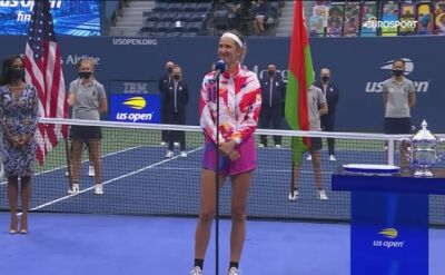Azarenka po przegranym finale US Open 2020