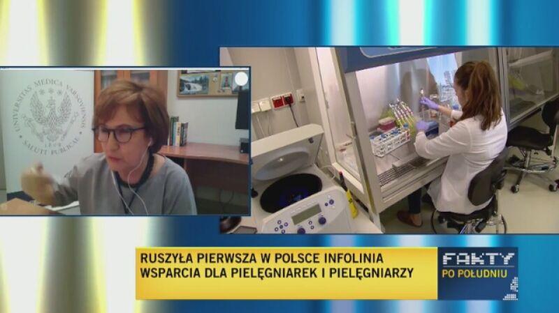 Prezes Polskiego Towarzystwa Pielęgniarskiego Grażyna Wójcik: Pielęgniarki troszcząsię o najbliższych
