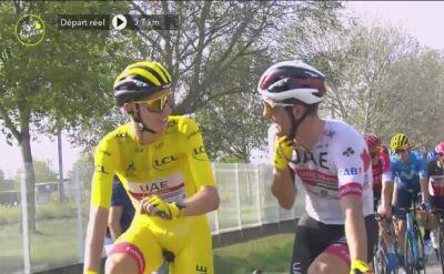 Tadej Pogacar w znakomitym nastroju na ostatnim etapie Tour de France