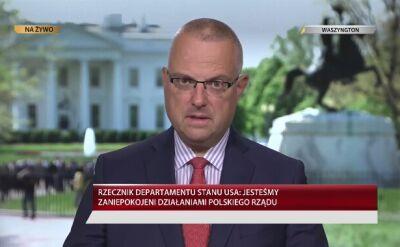 Marcin Wrona o oświadczeniu Departamentu Stanu ws. reformy sądownictwa