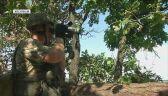 Pozycje wojsk ukraińskich w pobliżu okupowanego przez rebeliantów Doniecka