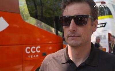 Piotr Wadecki przed 18. etapem Touru