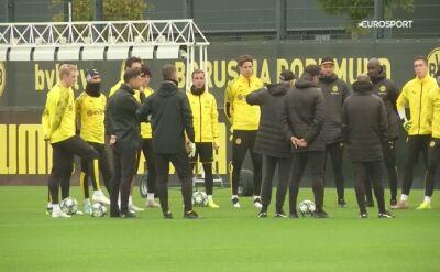Piłkarze Borussii Dortmund przygotowują się do meczu z Interem Mediolan