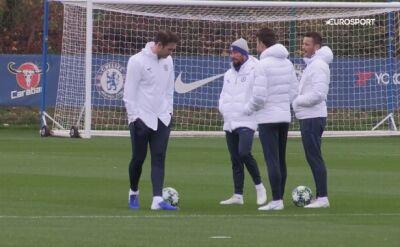 Piłkarze Chelsea trenują przed meczem z Ajaksem w Lidze Mistrzów
