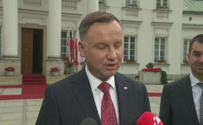 Prezydent Andrzej Duda dziękuje za frekwencję wyborczą