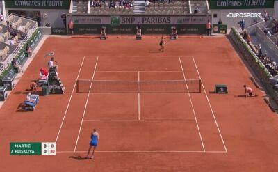 Skrót meczu Martić - Pliskova w trzeciej rundzie Roland Garros