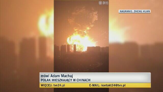 Adam Machaj o eksplozji w Tiencinie