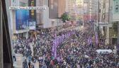Dziesiątki tysięcy ludzi na ulicach w Hongkongu