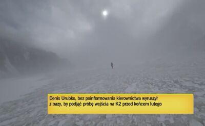 Urubko ruszył sam w górę K2