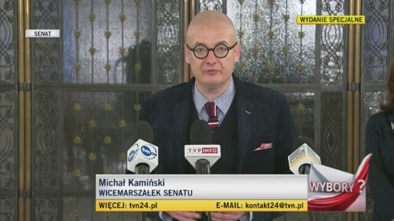 Wicemarszałek Senatu Michał Kamiński: odrzucając pomysł wyborów kopertowych, pomogliśmy polskiej wolności