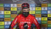 Dylan Teuns po wygraniu 8. etapu Tour de France