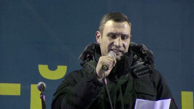 """""""Janukowycz oddał państwo w zastaw Rosji"""". Kliczko wyzywa prezydenta na ring"""