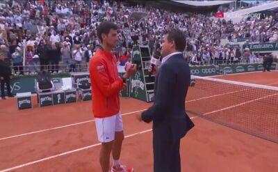 Djoković po awansie do półfinału Roland Garros