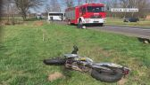 Motocyklista zmarł w szpitalu