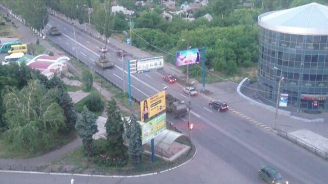 Kolumna czołgów w Makiejewce