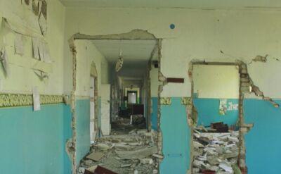 Zniszczone szkoły w Donbasie