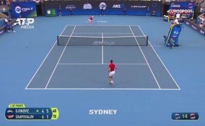 Djokovic pokonał Shapovalova i dał awans Serbii do półfinału ATP Cup