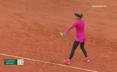 Skrót meczu 1. rundy French Open Katarina Zawacka - Kiki Bertens