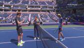 Skrót meczu Zverev - Harris w ćwierćfinale US Open