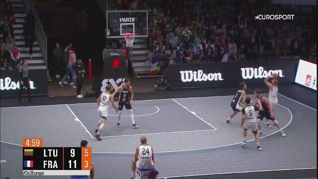 Piękny punkt w wykonaniu reprezentacji Francji w ME w koszykówce 3x3