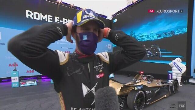 Jean-Eric Vergne po zwycięstwie w sobotnim wyścigu E-Prix w Rzymie