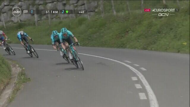 Roglić skorzystał z ataku Astany na 6. etapie wyścigu Dookoła Kraju Basków