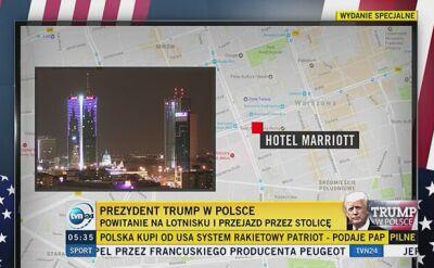 """Trump w Polsce. Oficjalne przywitanie, rozmowa """"w cztery oczy"""" z Andrzejem Dudą"""