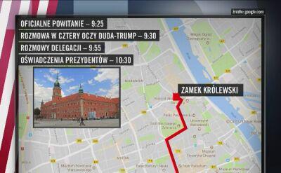 Trump w Warszawie. Plan wizyty