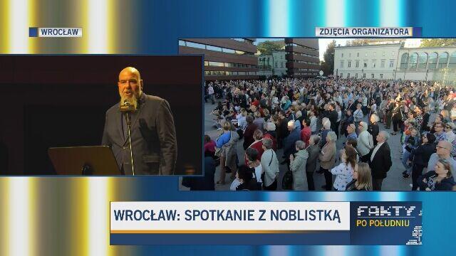 Klucze do miasta i tłum wielbicieli. Wrocław przywitał Olgę Tokarczuk