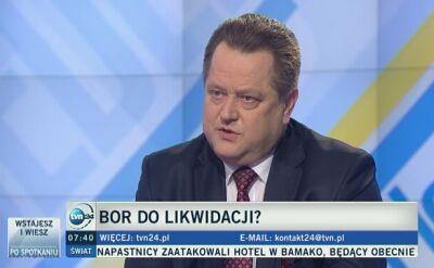 """Wiceminister Zieliński w """"Jeden na jeden"""" mówił o planach MSWiA wobec BOR"""