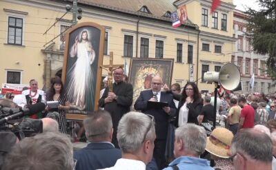 Krakowski wiec poparcia dla arcybiskupa Jędraszewskiego
