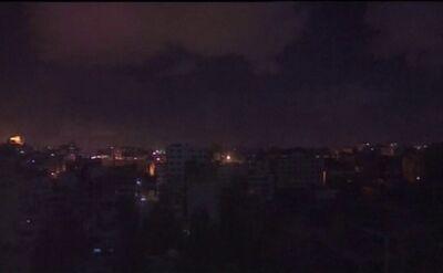 Nocne wybuchy w Strefie Gazy