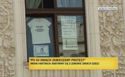 Janina Ochojska o zawieszeniu protestu