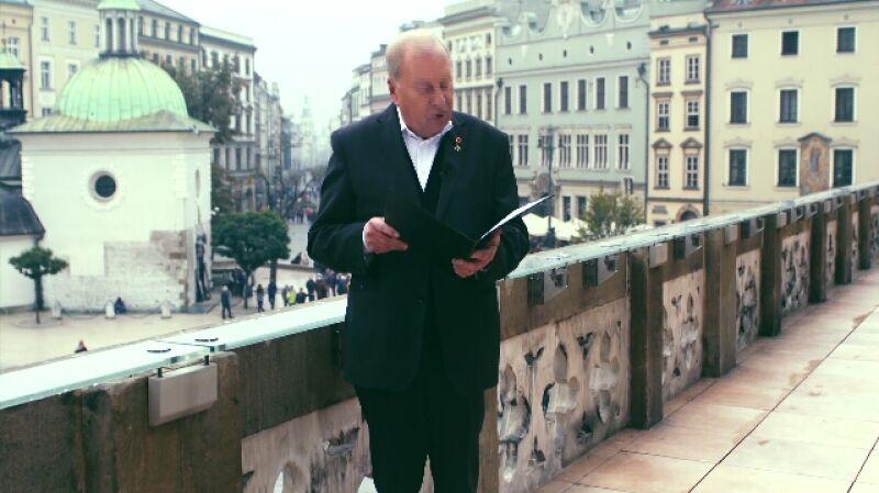 Życzenia dla Polski. Jerzy Stuhr czyta życzenia od anonimowego czytelnika