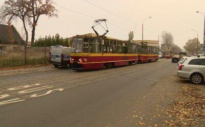 Zderzenie tramwaju i pięciu aut