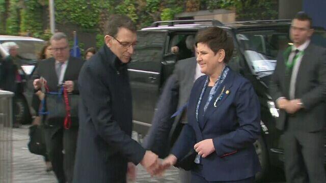 Premier Beata Szydło przybyła na szczyt w Brukseli