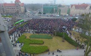 Poznański protest z lotu ptaka